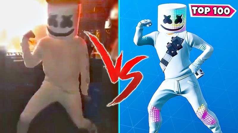TOP 100 NEW FORTNITE DANCES VS REAL LIFE.! [Marsh Walk, Keep It Mello, Flux, Glowsticks]