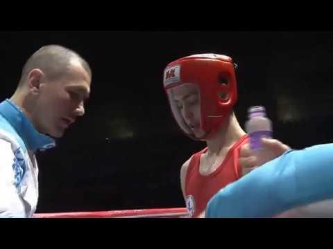 71 kg: Ruslan Zayakin (KAZ) - Dongwang Guo (CHN). Semifinal. Asia Championship 2018 (Macao)