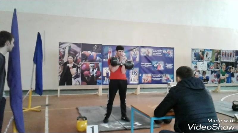 ТОЛЧОК ГИРЬ ПО 24KG НА 66 РАЗ! ТИМУР ДЗУГАЕВ. 3-е место на Чемпионате РСО-Алания. В/к до 68kg.