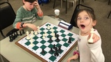 #1 6 Year Old Girl In USCF Blitz Just Took 7 Year Old Boy's Queen!!! Dada vs. Golan