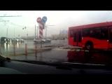 Авария на Пушкина, 1 автобус и ауди