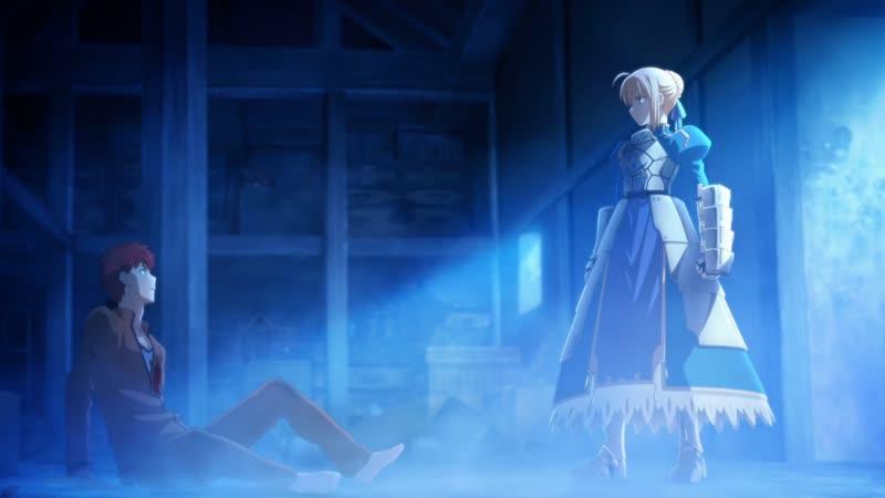 Saber vs Lancer Fate stay night Unlimited Blade Works