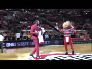 Greg Oden went back to Ohio State to get his degree. Today they honored him at senior day.