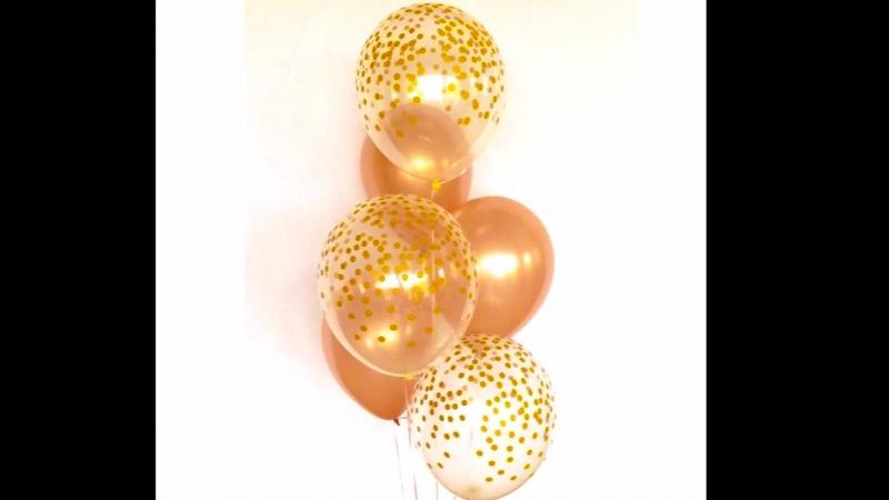 Красивые стойки из шаров_
