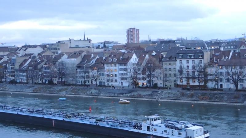 Basel - смотровая площадка, вид на Рейн и город