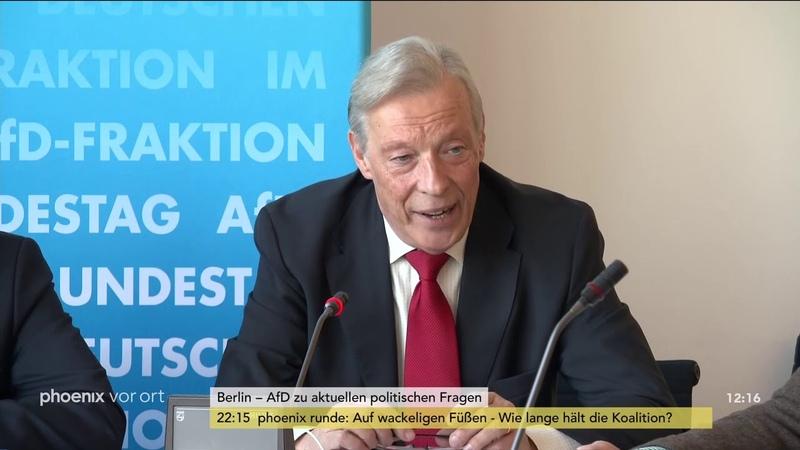 Bernd Baumann, Kay Gottschalk und Armin-Paulus Hampel zur Fraktionssitzung der AfD am 25.09.18