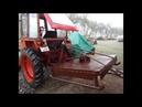 Самодельная цепная Косилка в работе с трактором т 25
