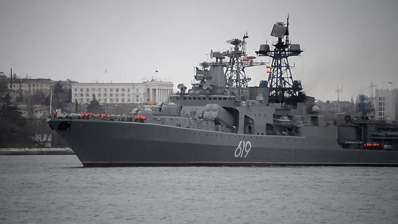 Большой противолодочный корабль Североморск впервые в Севастополе