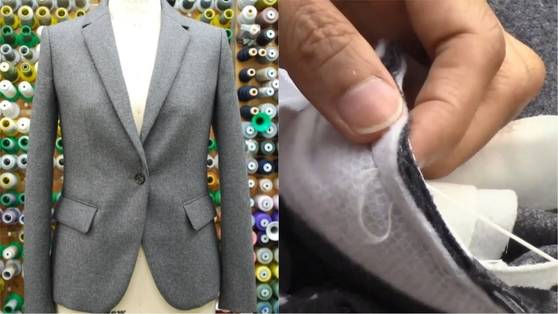 ジャケットの作り方・縫い方 Part5 「袖作り 袖付け 衿付け」 How to sew a jacket tutorial