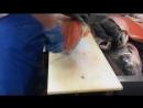 Salmon fish filleting - 9 kg. Fish factory. Разделка Семги на рыбной фабрике в И