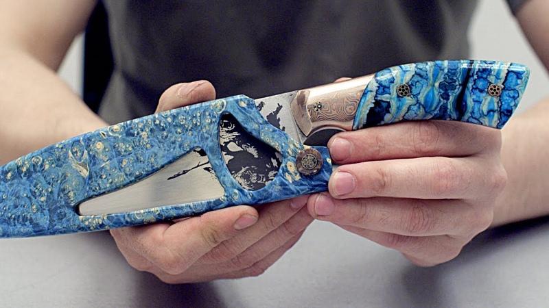 Обзор ножа от Dr. Alba. Красивая работа.