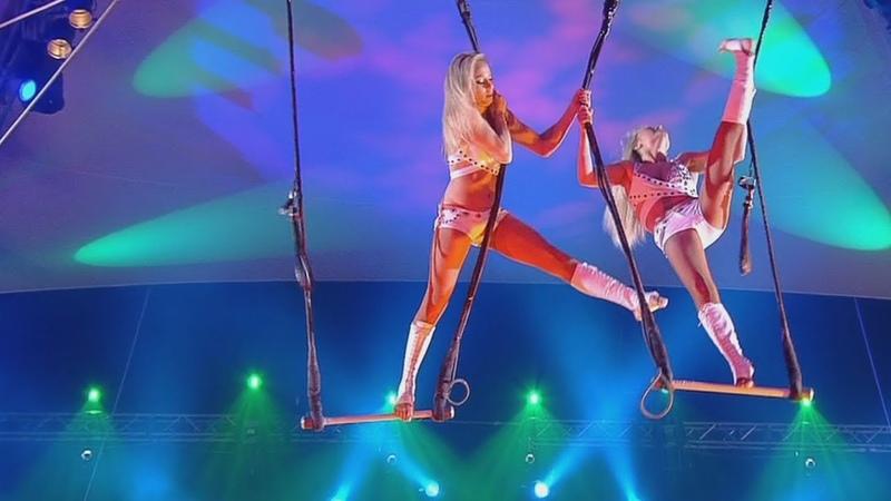 Circus Aerialists   Цирк Воздушные гимнастки