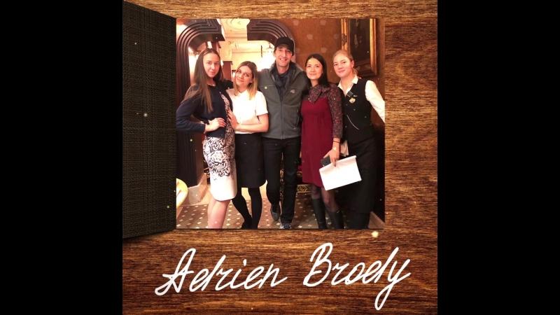 Эдриен Броуди в ресторане «Царь»