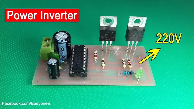 How to make Inverter 12V to 220V Using Mosfet IRF3205 | ATX Power Supply