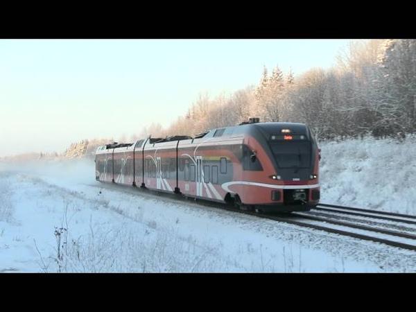 Штaдлерский дизель поезд 2404 в быв. о.п. Патика Stadler DMU 2404 passing ex. Patika stop
