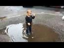 VLOG Дима устроил примерку луж видео для детей kids children