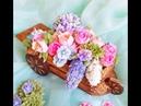 Пряничная 3 D тележка с цветами от Виктории Калининой