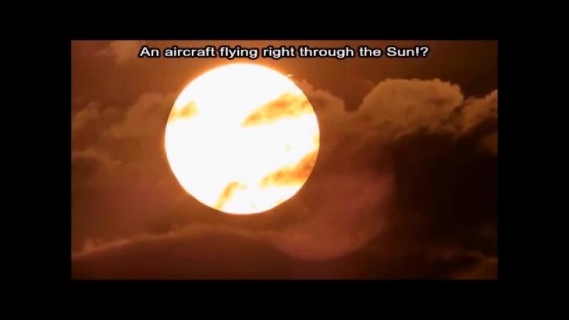 Плоская Земля Самолеты пролетают сквозь голограмму Солнце, спрятанное в облаках