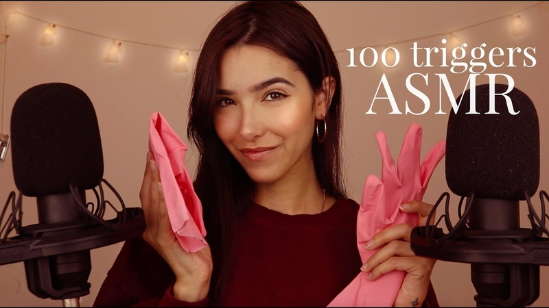 ASMR 100 Triggers in 40 minutes (Mic Scratching, Shaving, Unintelligible whispers, Brushing...)