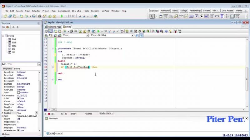 02. Взлом программ в OllyDbg пишем KeyGen для Melody на Delphi