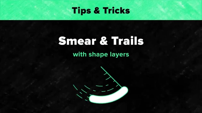 Smear Trails with Shape Layers