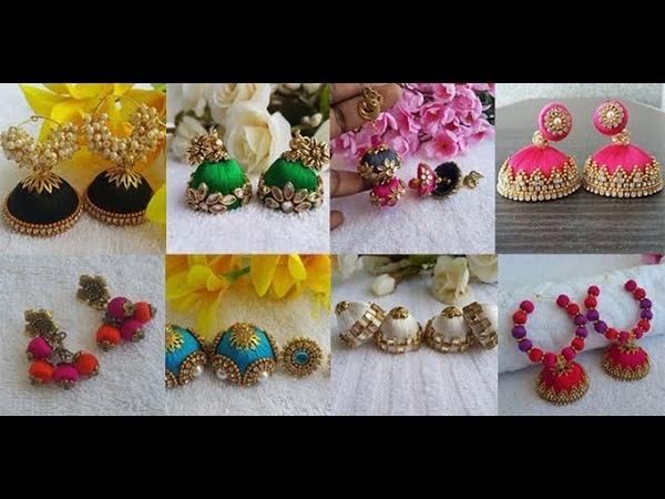 Latest Designer Silk Thread Jhumkas Collection