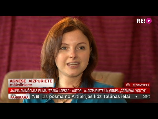 "Jauna animācijas filma Trakā lapsa autori Agnese Aizpuriete un grupa ""Carnival Youth"
