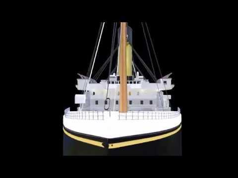 Short render of ongoing development of Life-Size RMS Titanic model (Blender 2.7b)