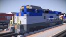 Minecraft Amtrak GE Dash 8-32BWH Locomotive Tutorial