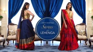 How To Wear A Saree As A Lehenga | Saree Hacks
