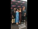 Tyler Posey com o elenco de Marvel Rising durante a sessão de fotos. NYCC18