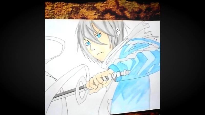 Видео рисунки аниме.