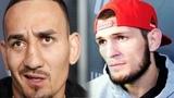 РЕАКЦИЯ ХАБИБА НУРМАГОМЕДОВА НА СОТРЯСЕНИЕ МОЗГА МАКСА ХОЛЛОУЭЯ И ОТМЕНУ ЕГО БОЯ на UFC 226