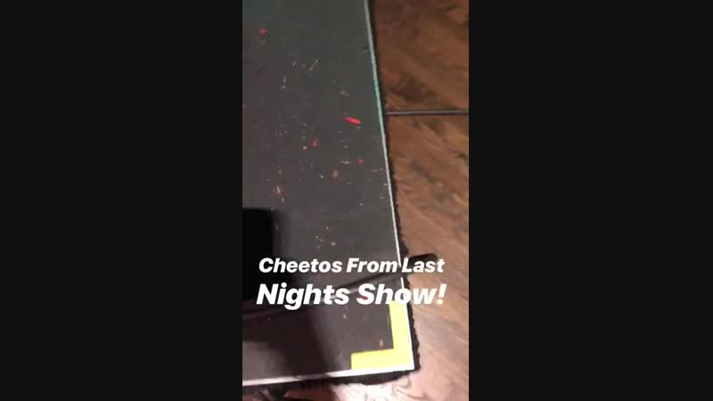 Cheetos on the live show