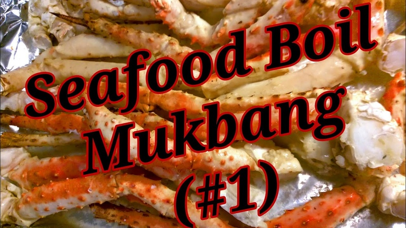 SEAFOOD BOIL MUKBANG 1 ~ KING CRAB LEGS SHRIMPS SCALLOPS 😍