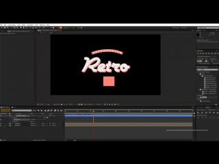 AFTER EFFECTS TUTORIAL   Smooth Text Animation in After Effects-Retro text animation-Vintage style