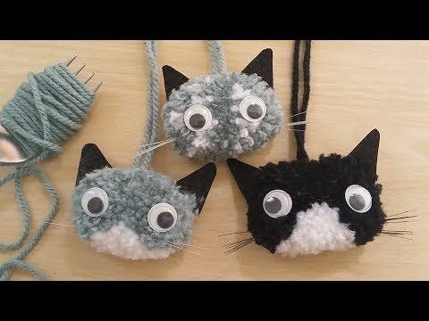 ทำตุ๊กตาปอมปอม-แมวซ่าส์ How to Make PomPom (The Naughty Cats)