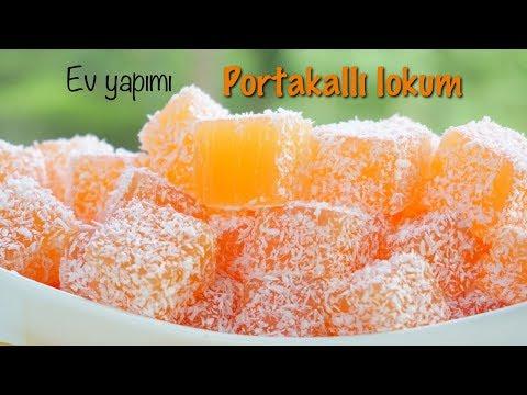 EV YAPIMI PORTAKALLI LOKUM - HOMEMADE TURKISH DELIGHT - english subtitle