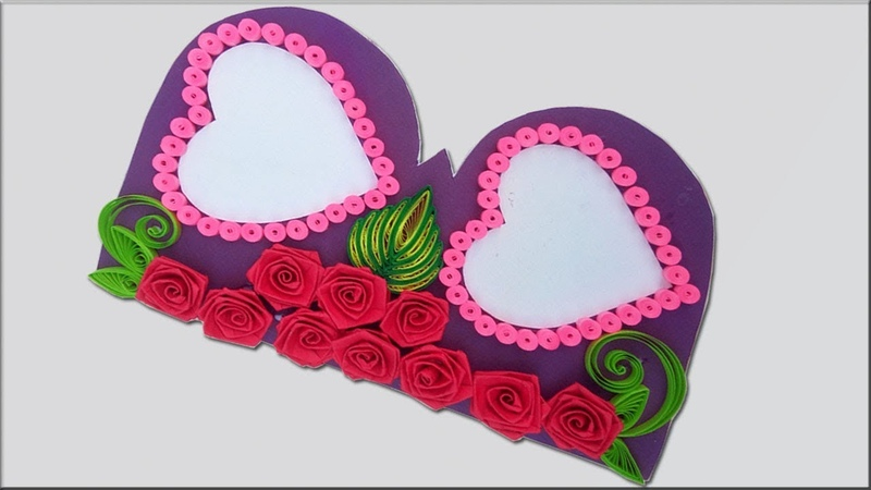Paper Quilling |Beautiful Heart designs Birthday card idea Diy Greeting Pop up Cards for Birthday.