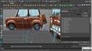 Моделирование мультяшного автомобиля в Maya часть 2