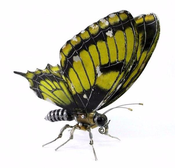 Стимпанк-скульптуры животных и насекомых Художник-скульптор Игорь Верный создает потрясающие стимпанк-скульптуры птиц и насекомых, используя для этого в буквальном смысле практически все, что