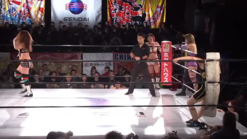 Aja Kong, Alex Lee, Hiroyo Matsumoto Mikoto Shindo vs. Cassandra Miyagi, Manami, Meiko Satomura Mika Iwata
