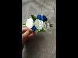 свадебный гребень с синими цветами