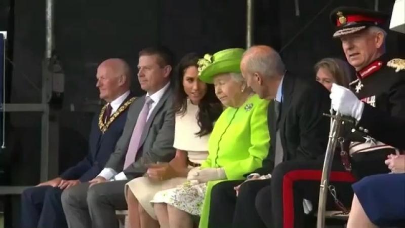 Королева и Меган Маркл на первом совместном выходе Честер 18 06 18