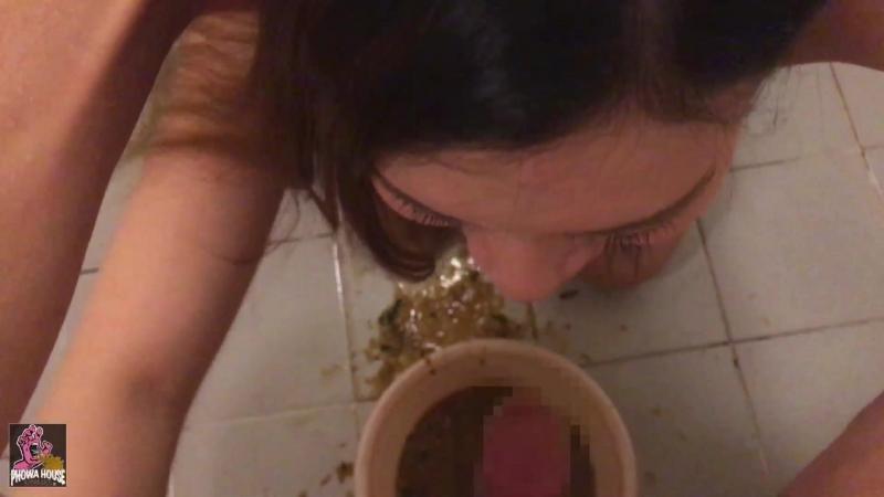 Видео японка блюет от спермы