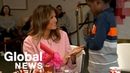 Melania Trump visits children undergoing treatment on Valentine's Day in Washington