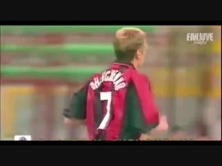 Андрей Шевченко - дебют за Милан против Пармы (Суперкубок Италии) 21.08.1999