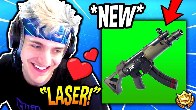 NINJA LOVES THE *NEW* SUBMACHINE GUN! *OVERPOWERED* Fortnite FUNNY SAVAGE Moments