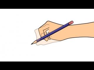 Как научиться держать карандаш. Шаг 6: положите карандаш на средний палец