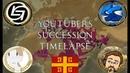 [EU4] Youtubers Succession Timelapse - Byzantium - GGParker, Sansho, TheSocialStreamers